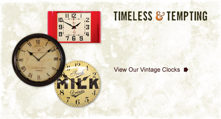 Timeless & Tempting Vintage Clocks - Vintage and Reclaimed