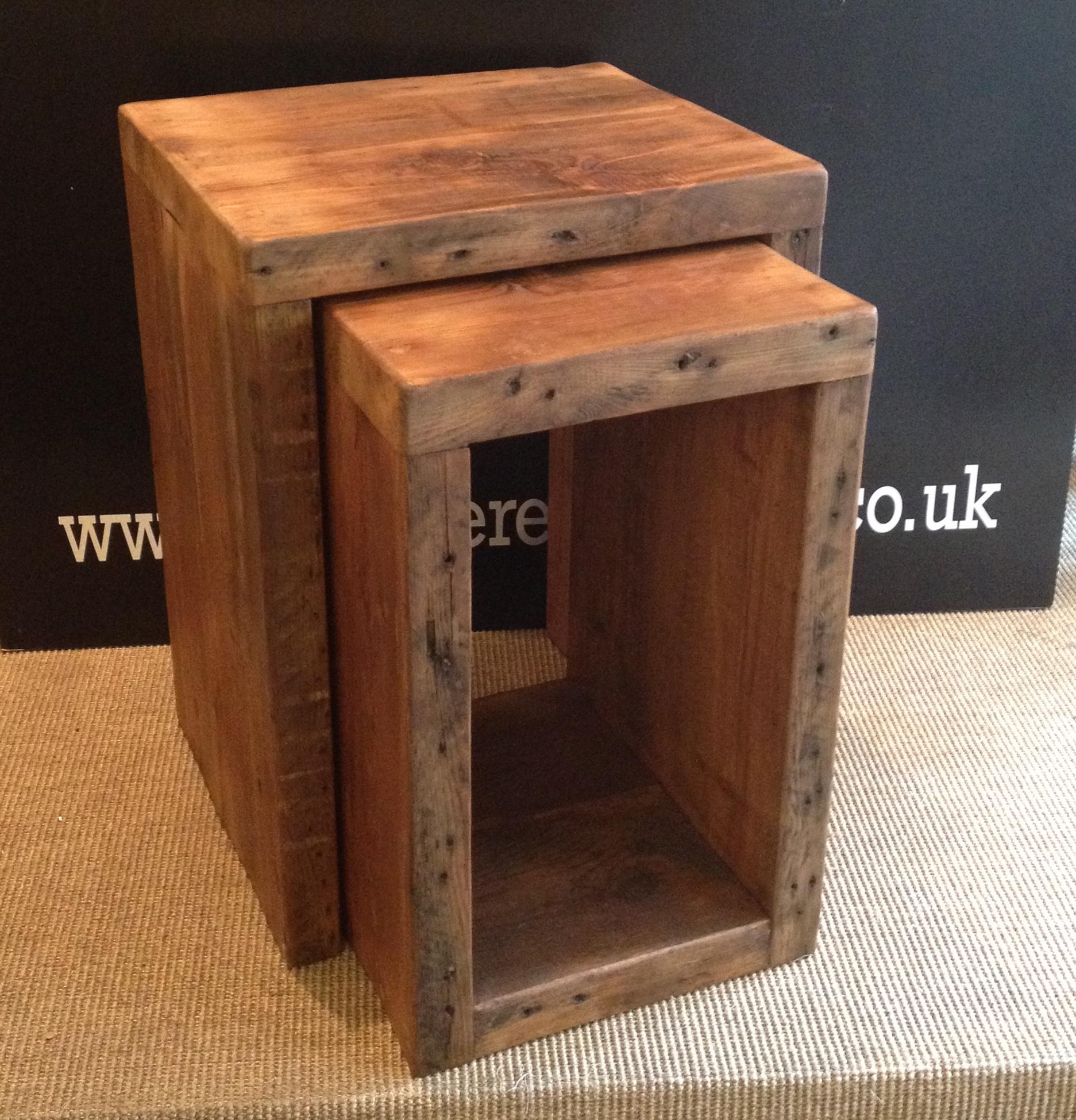 Elegant Cube Reclaimed Nest Of Tables