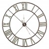 Large Iron Wall Clock with Roman Numerals