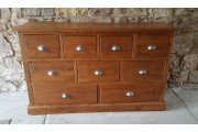 Original Reclaimed 9 Drawer Bank