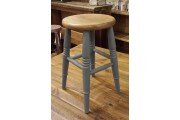 Low Beech Stool Painted