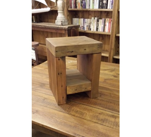 Reclaimed Cube Stool