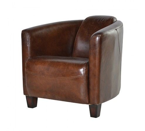 Low Slung Leather Chair