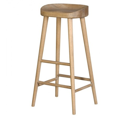 Weathered Oak Farmhouse Stool