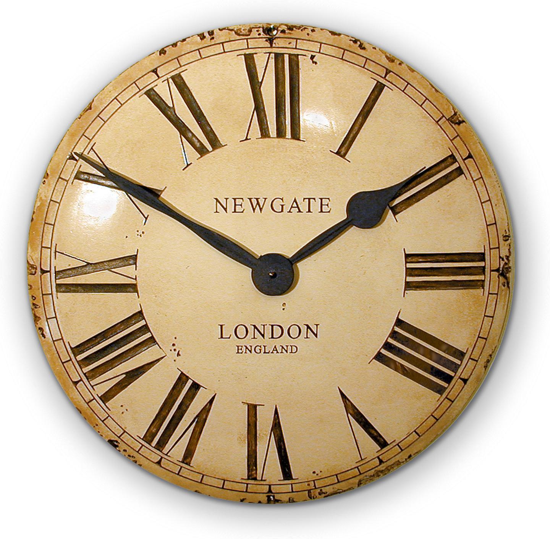 Pin newgate clocks giant electric wall clock chrome awn14c - Reloj pared vintage ...
