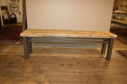 Metro Steel and Reclaimed Bench