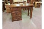 Reclaimed Single Pedestal 3 Drawer Desk